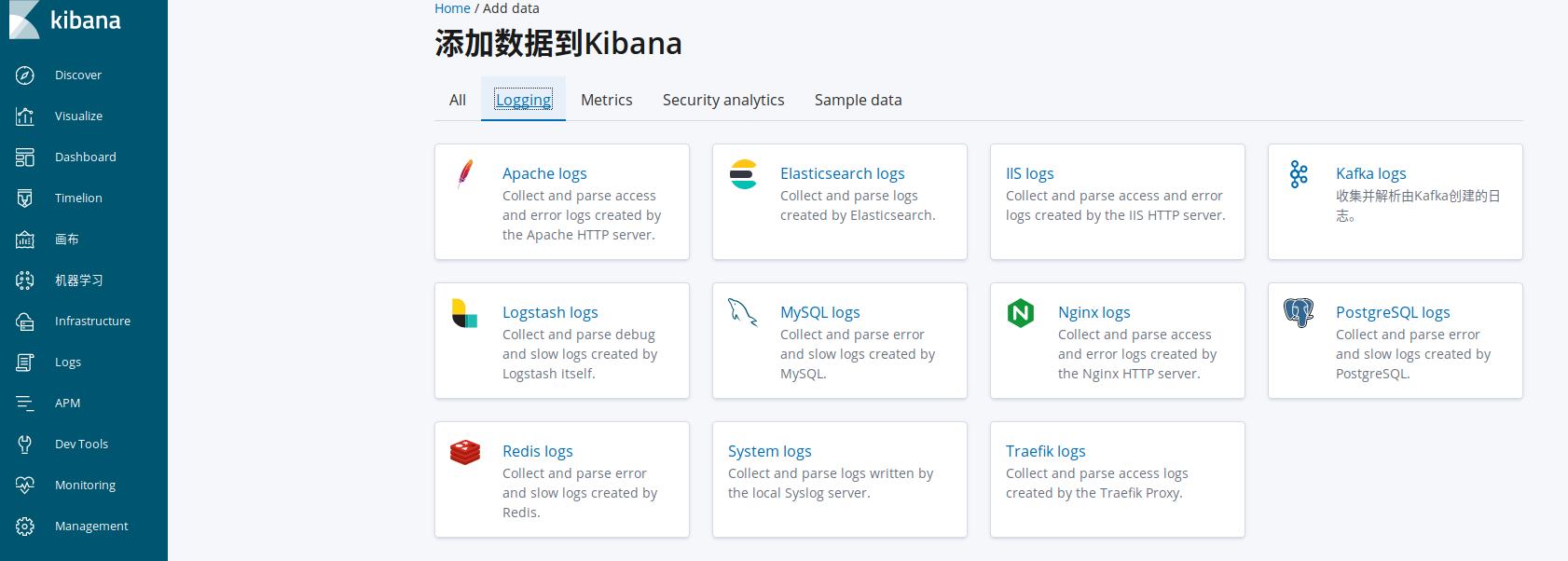 基于ELK Stack收集nginx日志并通过kibana展示
