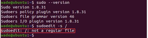 服务器漏洞预警:Linux sudo权限提升漏洞(CVE-2021-3156)修复